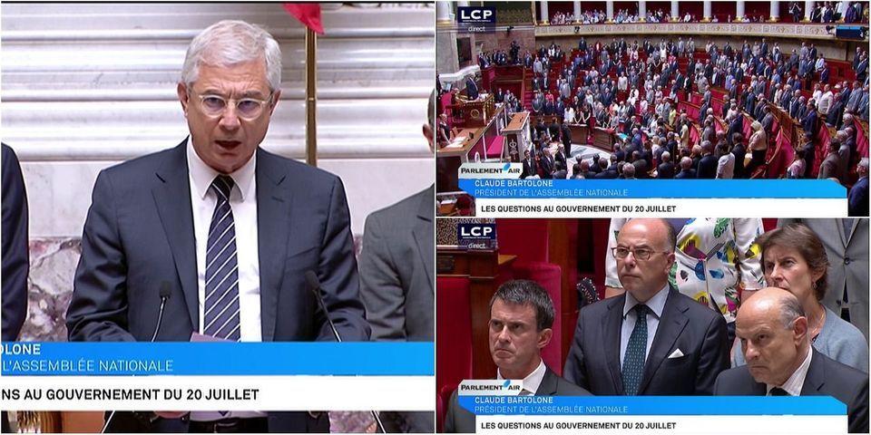 Attentat de Nice : on a trouvé la minute d'unité nationale au Parlement