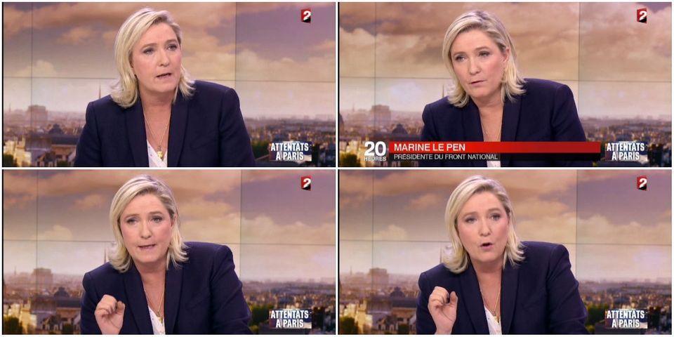 Comment Marine Le Pen refuse de réagir sur les sorties de certains cadres FN