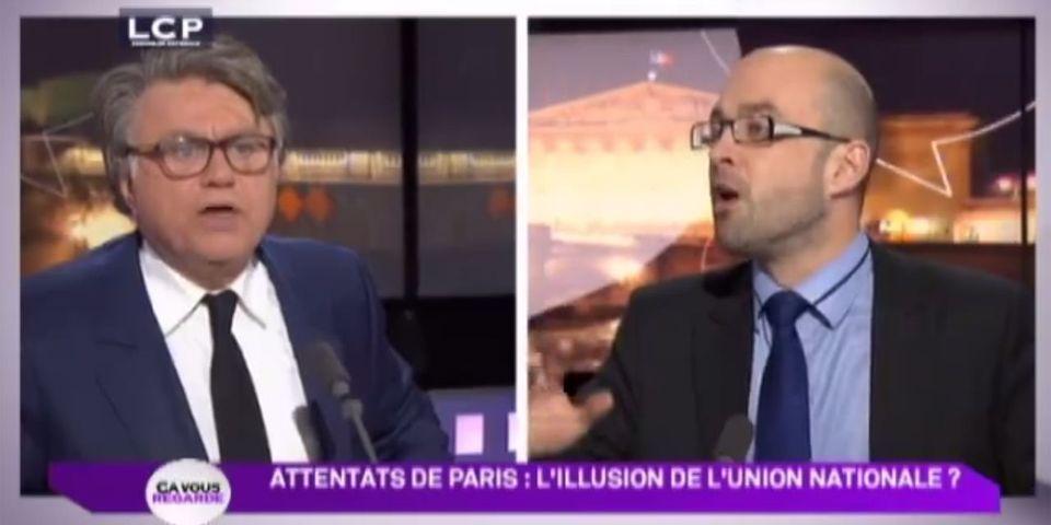 Attentats à Paris : le débat au ras des pâquerettes entre Gilbert Collard et le PS Gwendal Rouillard