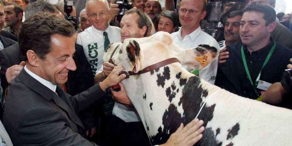 """Au salon de l'Agriculture, Nicolas Sarkozy ironise sur le """"tu ne le verras plus"""" de François Hollande"""