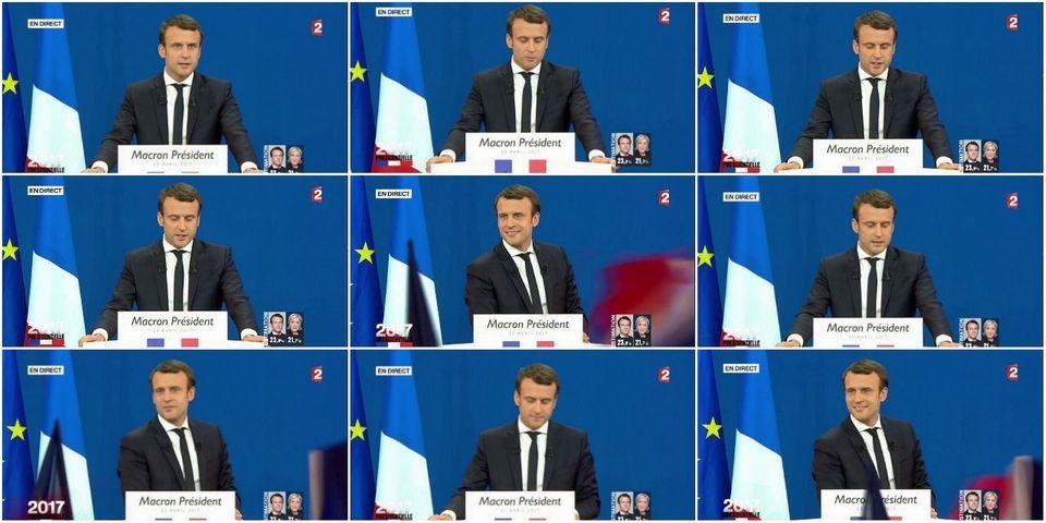 Au soir du premier tour, Macron fait presque un discours de victoire au second tour