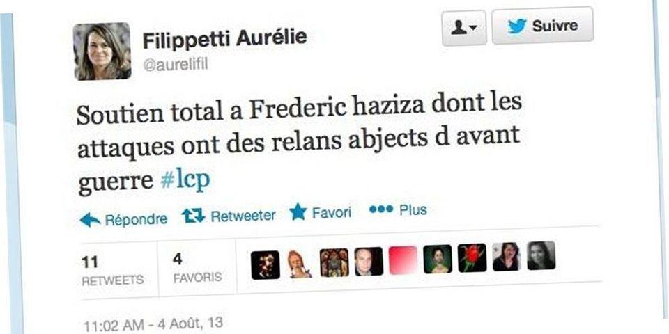 Aurélie Filippetti moquée sur Twitter pour une faute d'orthographe