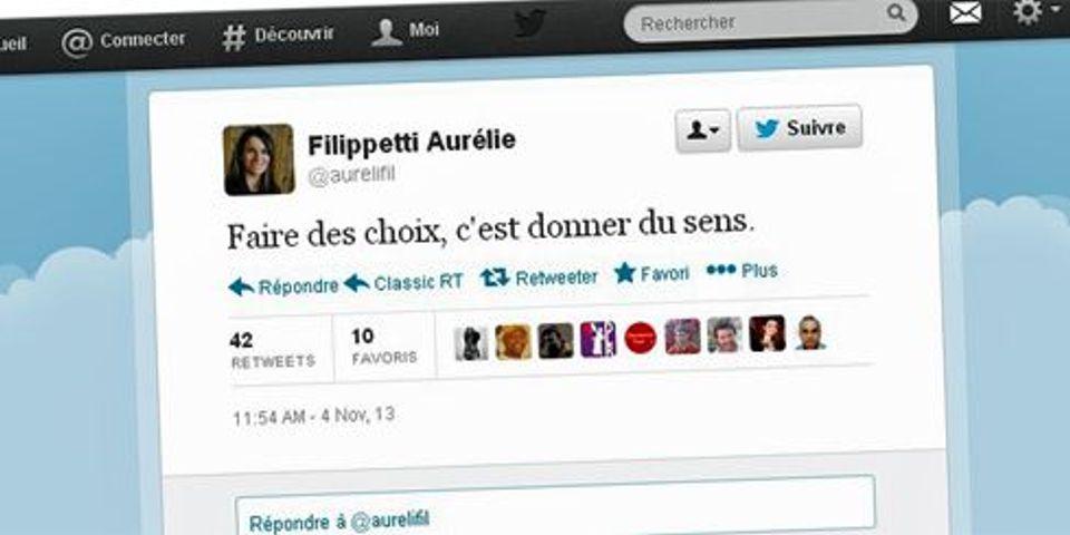 Aurélie Filippetti tweete pour défendre son silence après le décès de Gérard de Villiers