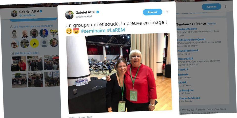 Aurore Bergé et Claire O'Petit mettent en scène leur réconciliation au séminaire des députés LREM