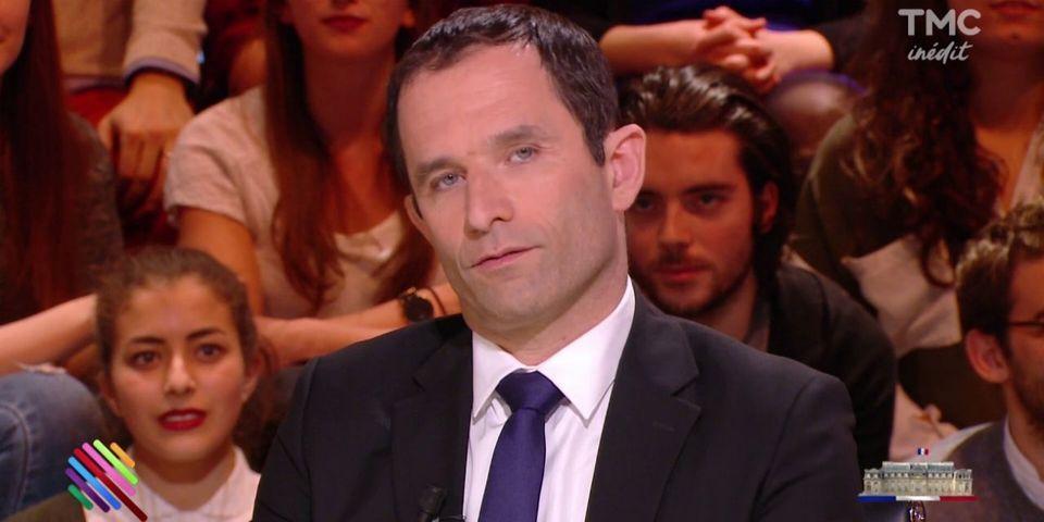 """Benoît Hamon estime que le projet d'Emmanuel Macron est inspiré """"par les forces de l'argent"""""""