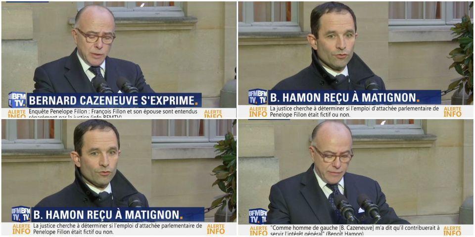 Bernard Cazeneuve et Benoît Hamon assurent le minimum après leur entretien à Matignon