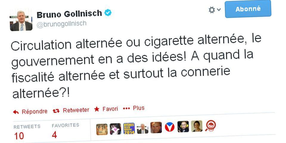 """Bruno Gollnisch ne saisit pas le second degré de Michèle Delaunay et suggère au gouvernement de mettre en place la """"connerie alternée"""""""