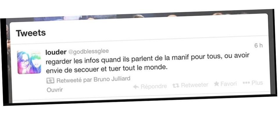 """Bruno Julliard, la Manif pour tous, et le tweet qui dit avoir """"envie de tuer tout le monde"""""""