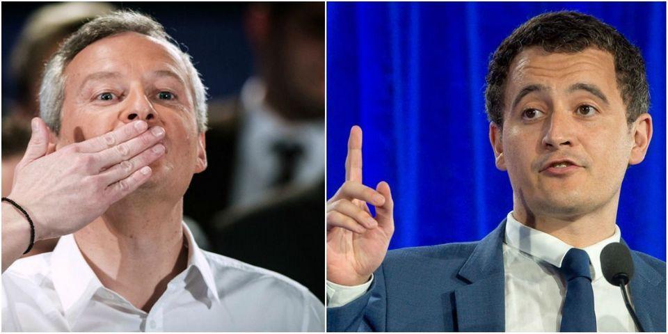 Bruno Le Maire et Gérald Darmanin, deux seuls cadres de droite nommés dans le premier gouvernement d'Édouard Philippe