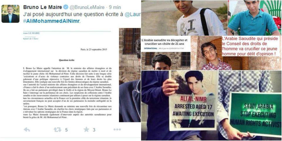 Bruno Le Maire demande à la France d'intervenir auprès de l'Arabie saoudite pour obtenir la grâce d'Ali Mohammed Al Nimr