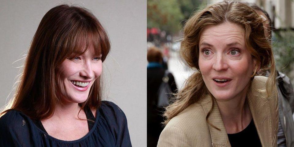 Carla Bruni-Sarkozy soutient Nathalie Kosciusko-Morizet lors de la présentation de son programme culturel