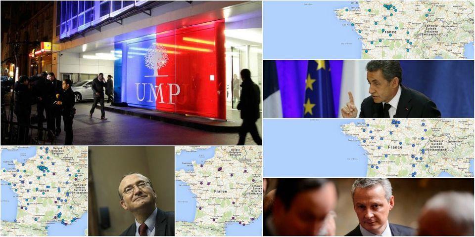 CARTES -  Le tour de France de Nicolas Sarkozy, Bruno Le Maire et Hervé Mariton pour la tête de l'UMP