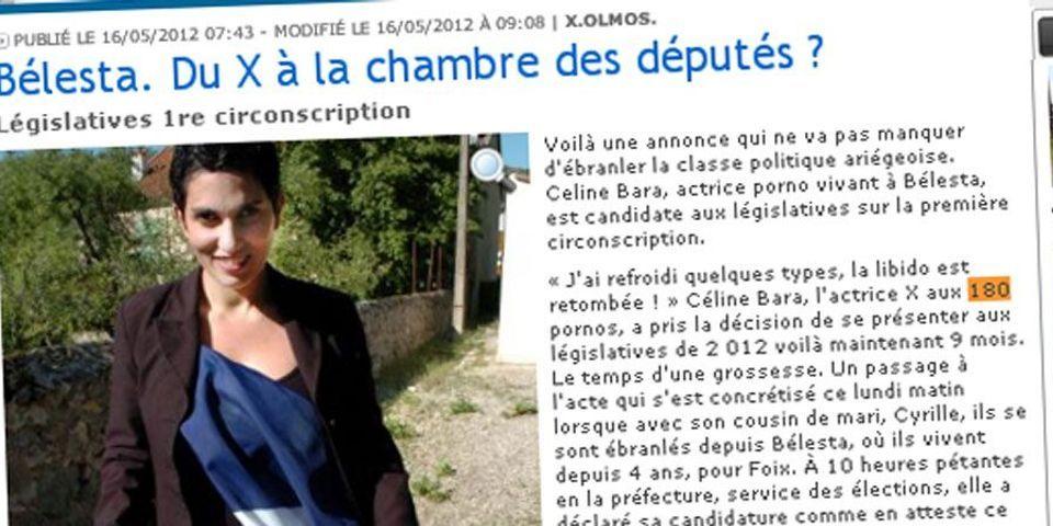 Céline Bara, actrice X et candidate aux législatives