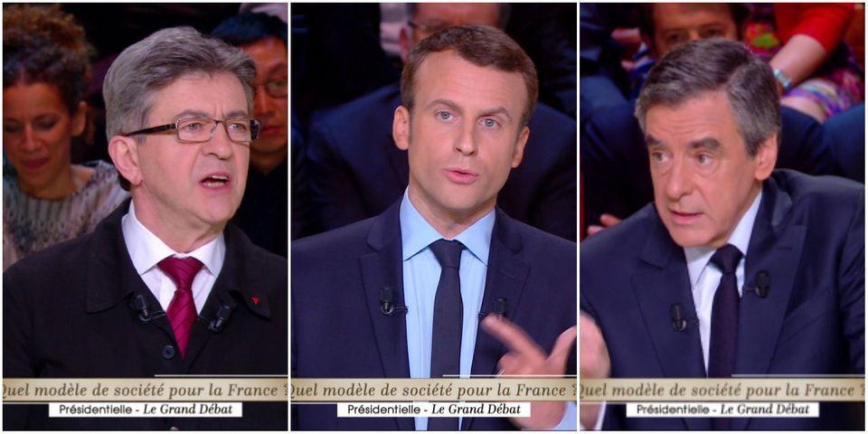 Ces moments où Emmanuel Macron s'est dit d'accord avec François Fillon et Jean-Luc Mélenchon