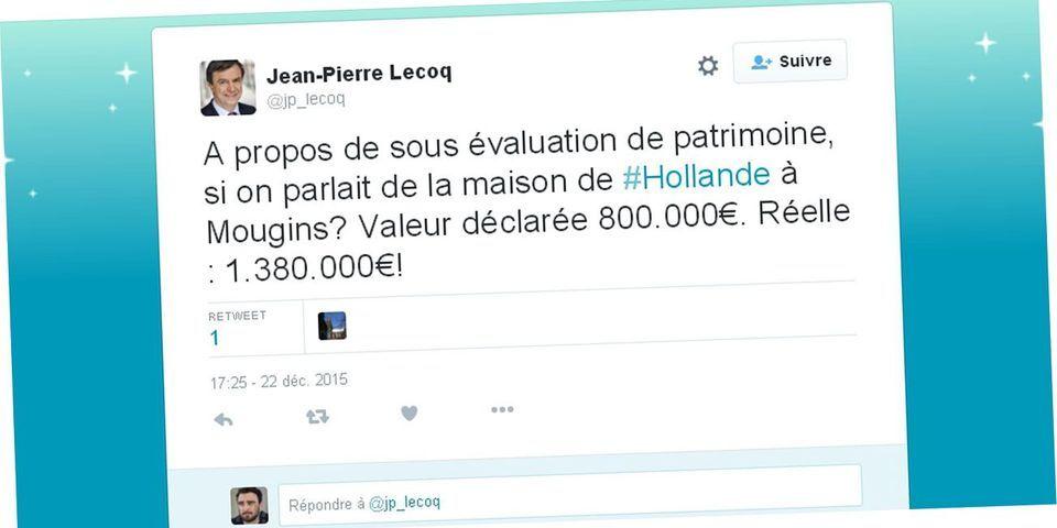 Cet élu LR de Paris qui accuse François Hollande de sous-estimer son patrimoine