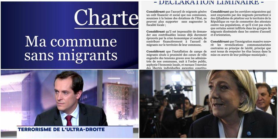 Contrairement à ce qu'assure Nicolas Bay, le FN a *un peu* un  discours anti-migrants