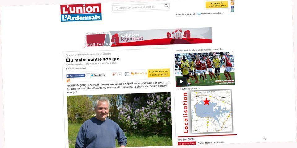 Dans le village de Mouron dans les Ardennes, le maire a été élu contre son gré
