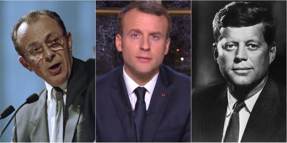 Pour ses vœux, Emmanuel Macron fait du John F. Kennedy et du Michel Rocard