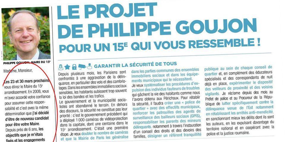 Dans son magazine, Philippe Goujon promet de ne pas faire de propagande électorale, et publie son projet municipal quelques pages plus loin