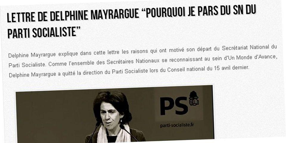 """Dans une lettre au vitriol, une ex secrétaire national du PS estime que son parti est """"sourd et aveugle"""""""