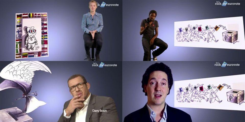 Dany Boon, Guillaume Gallienne, Virginie Efira et d'autres artistes appellent les jeunes à voter lors des européennes
