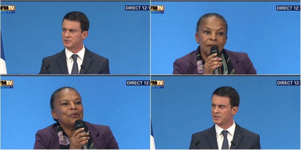Déchéance de nationalité : Valls et Taubira expliquent pourquoi la ministre de la Justice va rester au gouvernement