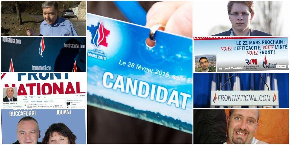 """Départementales : zoom sur neuf candidats FN """"à problèmes"""""""