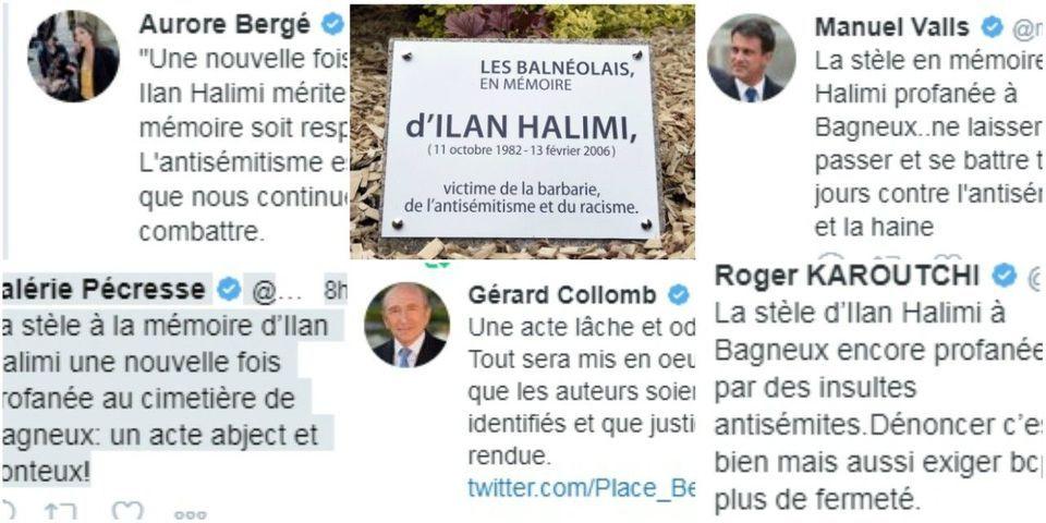 """Des élus LREM, PS et LR dénoncent """"l'ignominie antisémite"""" après la nouvelle profanation de la stèle en mémoire de Ilan Halimi"""