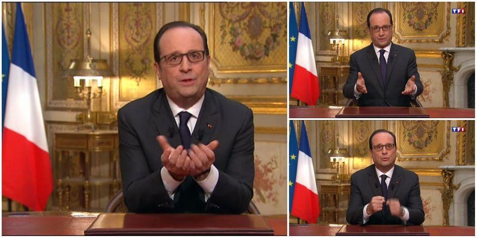 Des vœux anti-French bashing : ce qu'il faut retenir des vœux 2015 de François Hollande