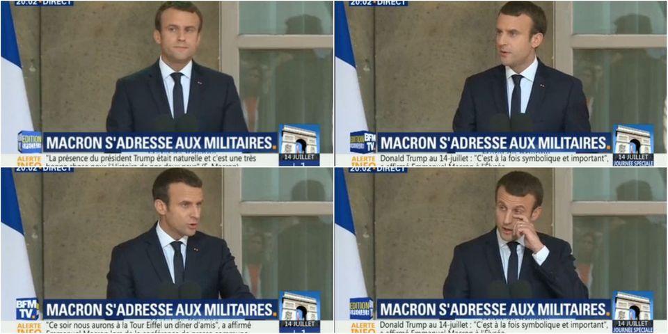 """Devant les armées, Emmanuel Macron juge """"pas dignes"""" les critiques sur le budget de la Défense"""