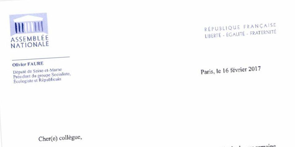 DOCUMENT LAB - La lettre d'Olivier Faure qui ferme les portes des réunions du groupe socialiste à l'Assemblée aux soutiens de Macron