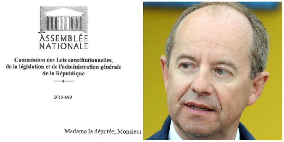 DOCUMENT LAB - La lettre d'Urvoas qui demande aux députés de signaler les problèmes locaux liés à l'état d'urgence