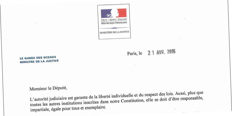 DOCUMENT LAB - L'argumentaire envoyé par Urvoas à tous les députés avant le vote sur la réforme du CSM