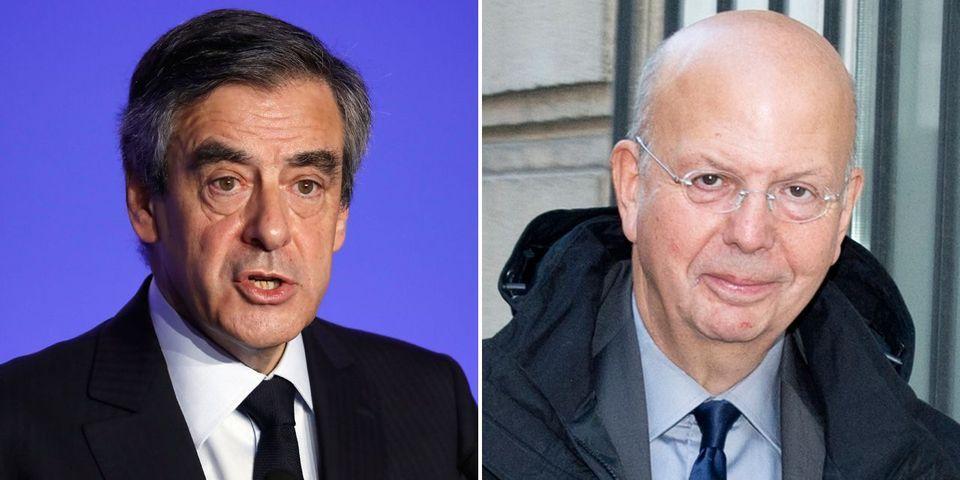 """Emmanuel Macron estime que François Fillon """"est en train de réaliser le rêve de Patrick Buisson"""" d'union des droites"""