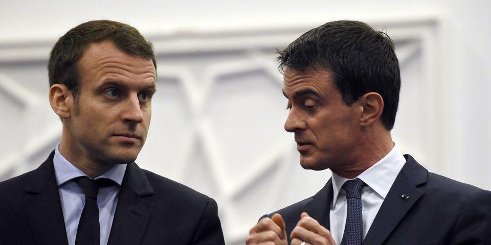"""Emmanuel Macron ne veut """"surtout pas se mêler"""" de la passe d'armes entre Valls et Mélenchon"""
