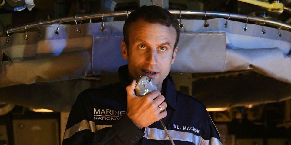 """Emmanuel Macron se dit """"fait"""" pour diriger dans """"les tempêtes"""" (et pas """"par temps calme"""" comme Hollande)"""