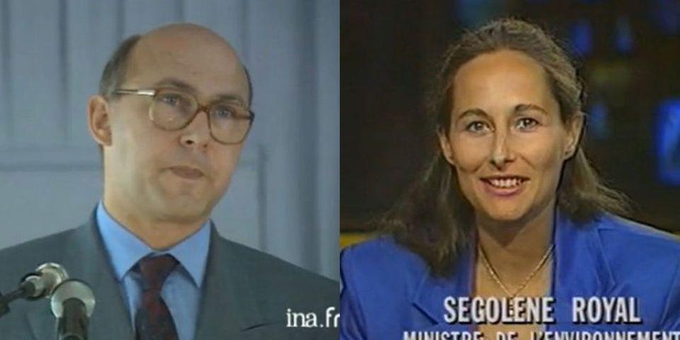 En 1992, Michel Sapin était déjà aux Finances et Ségolène Royal à l'Environnement