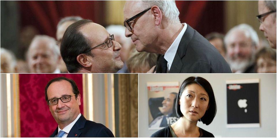 """En décorant Patrick Modiano de la Légion d'honneur, Hollande ironise sur """"ceux qui n'ont pas connaissance de ses ouvrages"""""""