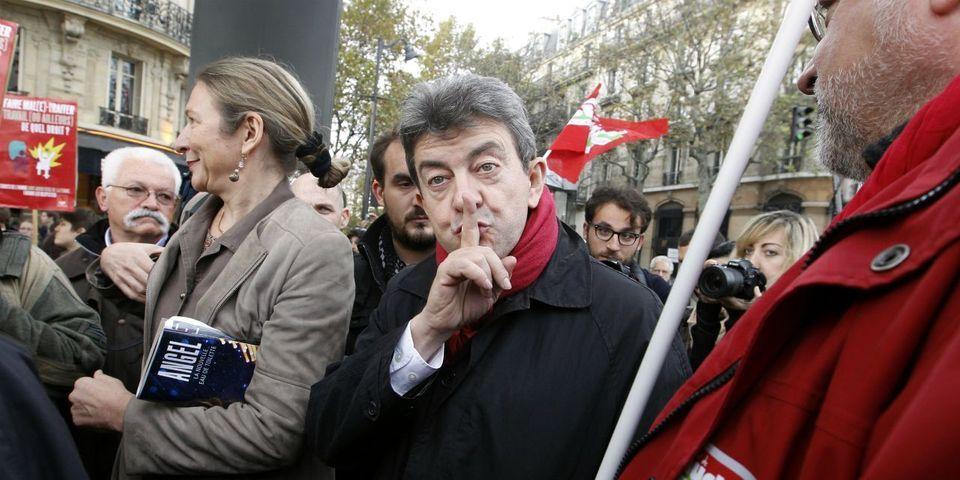 """En plein """"Grexit"""", Jean-Luc Mélenchon fait de la pub pour son livre-pamphlet contre Angela Merkel, """"le problème de l'Europe"""""""