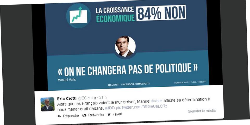 Éric Ciotti se la joue fact-checkeur et diffuse ses propres infographies sur les réseaux sociaux
