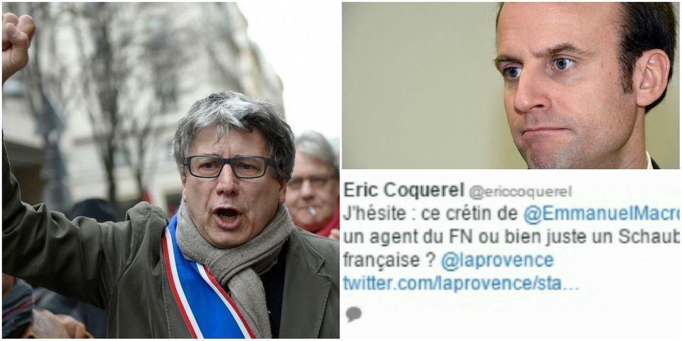 """Eric Coquerel, secrétaire national du Parti de Gauche, demande la démission de """"ce crétin de Macron"""" après ses propos sur Syriza"""