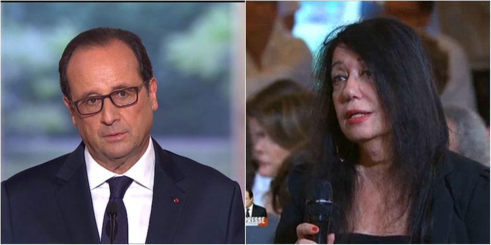 Et là, François Hollande recadre la journaliste qui lui pose une question sur le livre de Trierweiler pendant sa conférence de presse
