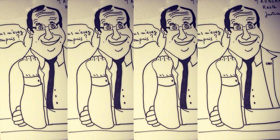 Et là, Jean Sarkozy se moque de François Hollande et Manuel Valls en dessins