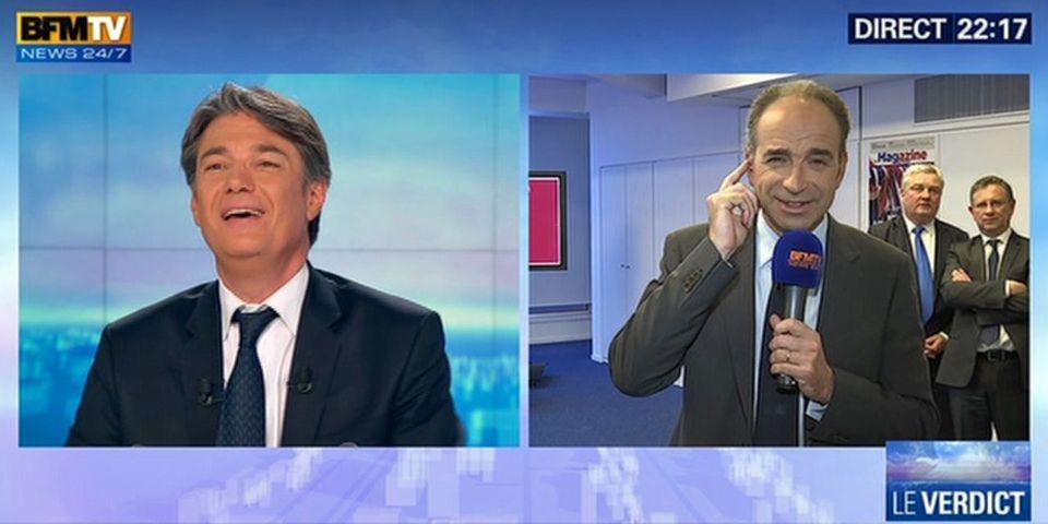 """Et là, un présentateur de BFMTV lance à Jean-François Copé : """"vous avez vous même parlé de vague bleue marine"""""""