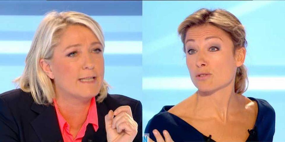 """Et Marine Le Pen accusa Anne-Sophie Lapix, """"commissaire politique"""" de """"racisme à l'égard du FN"""""""