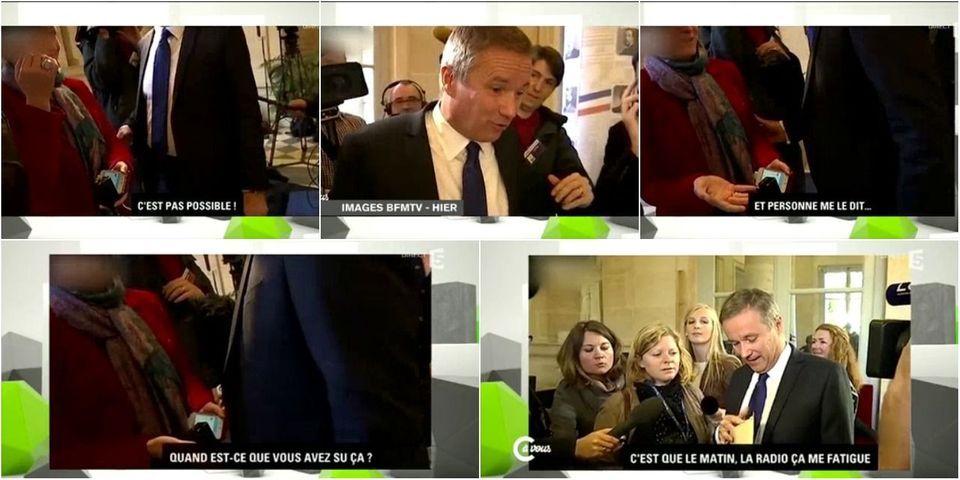 """""""Et personne me le dit !"""" : comment Nicolas Dupont-Aignan a raté l'annonce de la mort de Christophe de Margerie"""