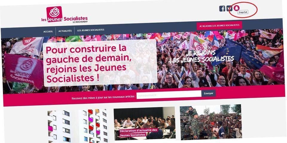Fail : le Mouvement des Jeunes socialistes renvoie vers le Snapchat des Jeunes avec Hamon