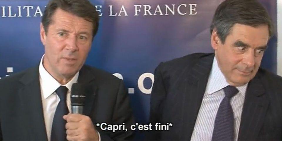 """Fillon fait de """"Capri, c'est fini"""" un running gag"""