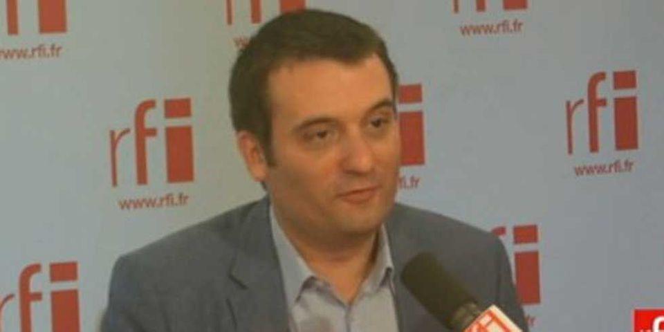 """Florian Philippot assure que le FN a """"beaucoup de visiteurs du soir"""""""