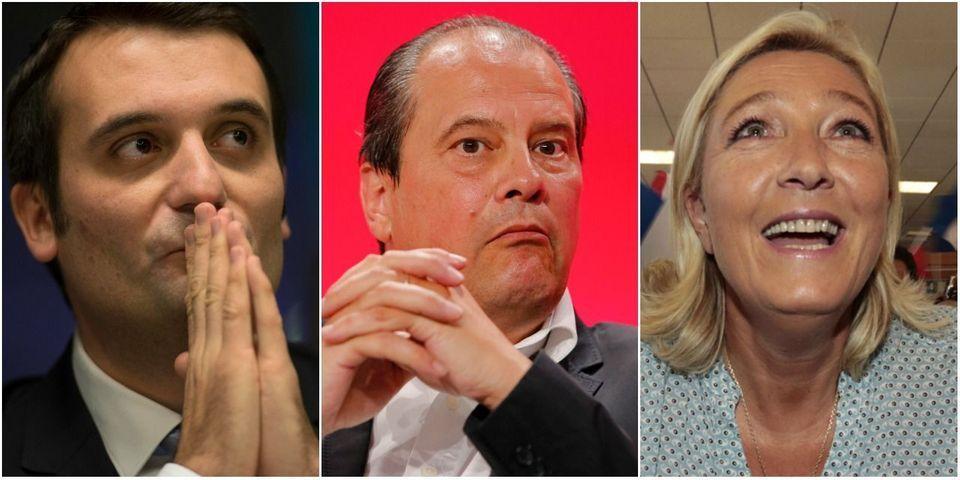 """Florian Philippot et Marine le Pen ironisent sur la """"cellule anti-FN"""" créée par le PS"""